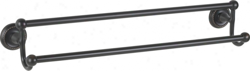 "Bronze Euro Style 24"" Wide Double Towel Bar (82238)"