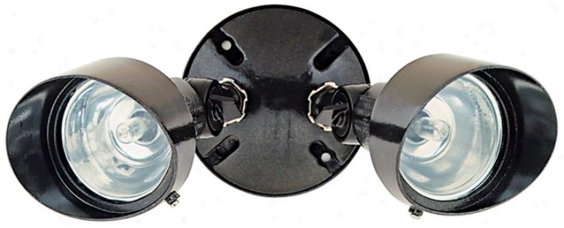 "Bronze Finish 12 1/4"" Wide Twin Halogen Spot Security Light (k6532)"