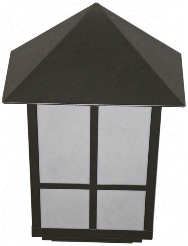 "Bronze Finish 15"" High Outdoor Wall Light (47736)"