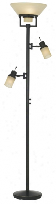 Bronze Perfect Dual Swing Arm Torchiere Prevail over Lamp (04408)