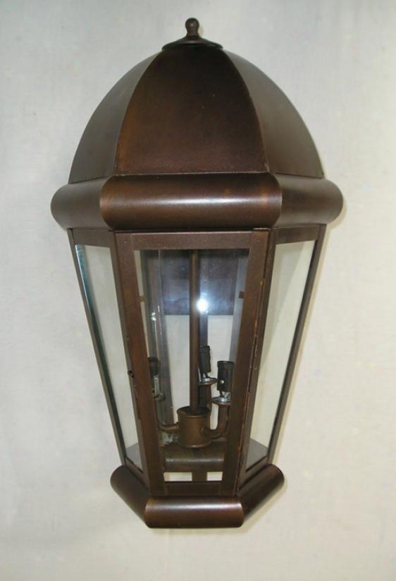 Bronze Finish Lantern 23 3/4&quor; High Outdoor Wall Light (06388)