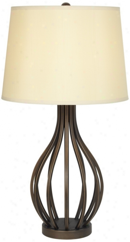 Bronze Iron Open Gourd Table Lamp (t1208)
