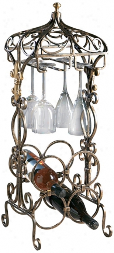 Bronze Openwork Metal Mini Bar (h8005)