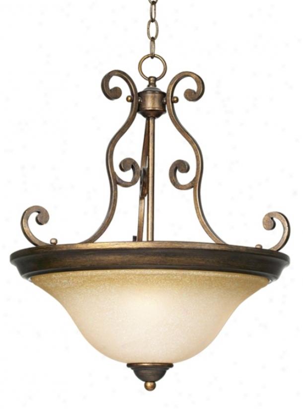 Bronze Over Iron 3-light Bowl Pendant Light (56061)