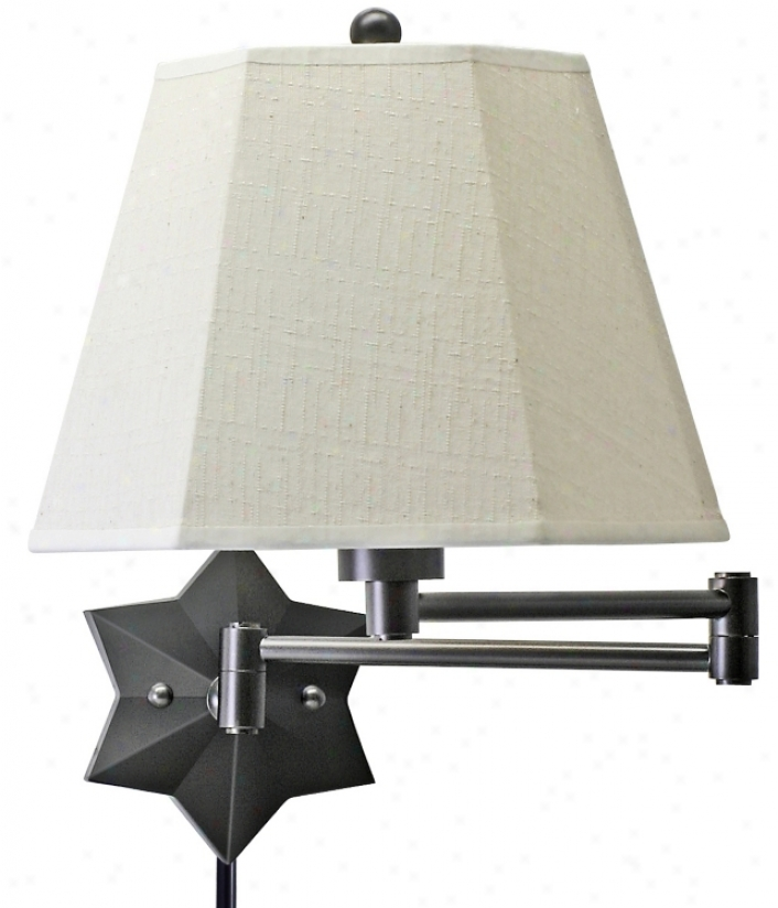 Bronze Star Of The Show Plug-in Swing Arm Wall Lamp (39867)