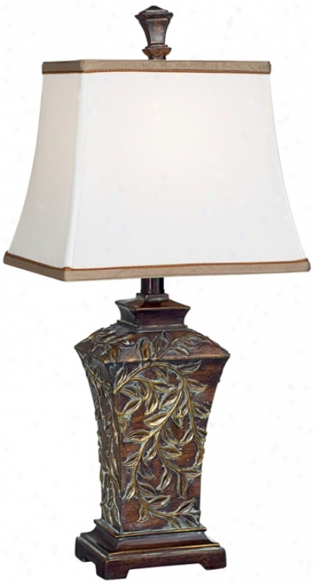 Bronze With Gold Vines Table Lamp (r7722)