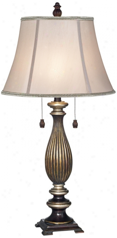 Bronze With Silver Acdents Synopsis Lamp (r7720)