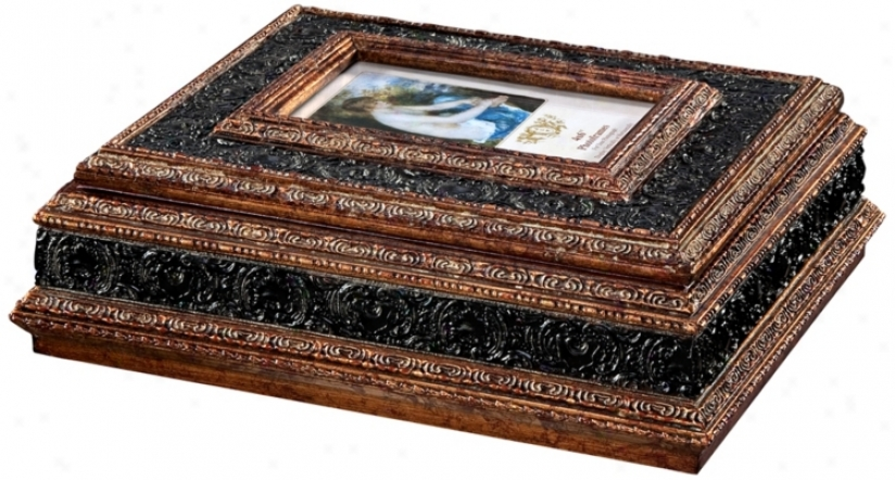 Brown And Gold Finished Picture Frame Decorative Box (r1011)
