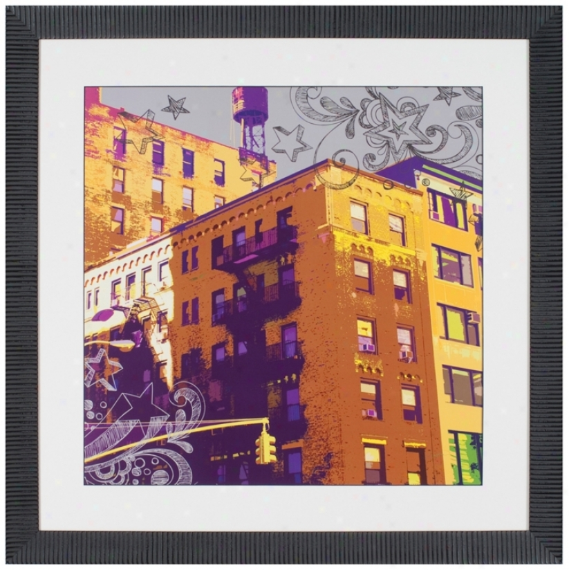 """Brownstone 36"""" Square Framed Wall Art (t0203)"""