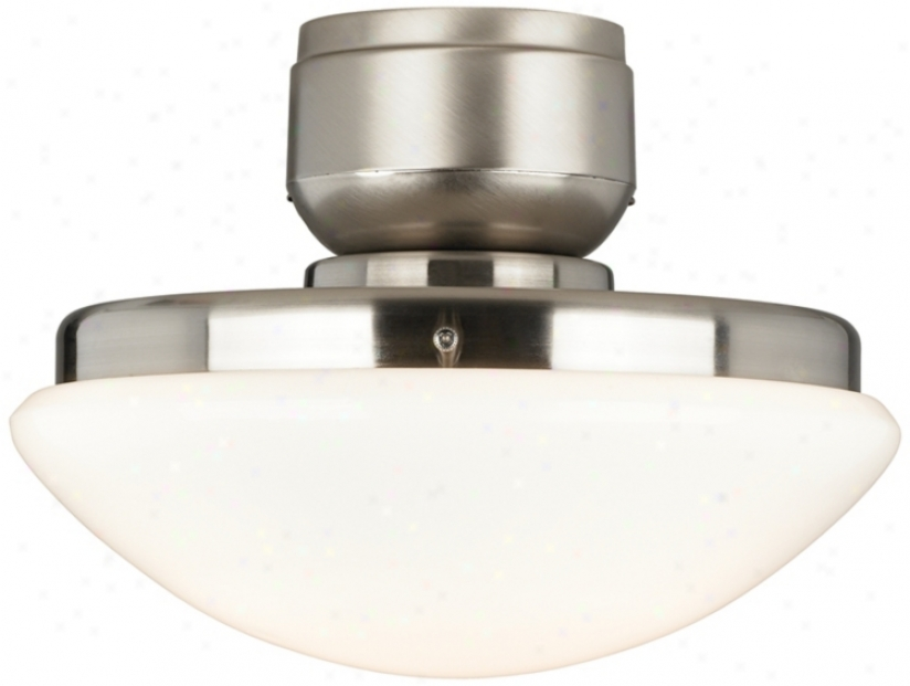 Brushed Nickel Pull-chain Cfl Ceiling Fan Light Kit (m2561)