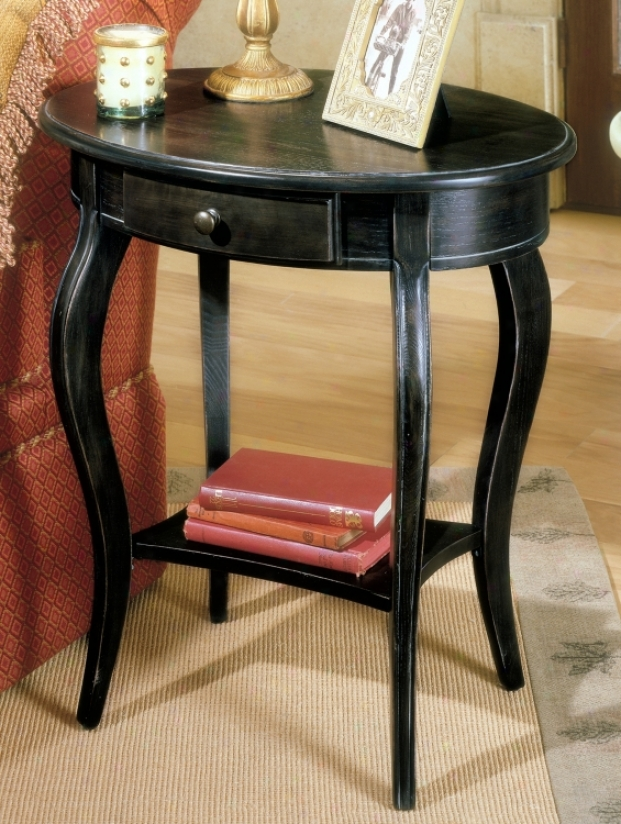 Brushed Sable Oval Accent Table (u4421)