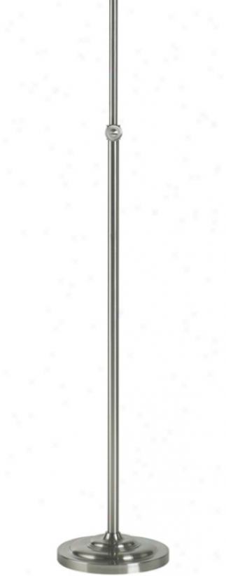 Brushed Steel Finish Adjustable Stick Floor Lamp Base (98114)