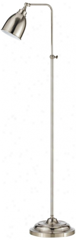 Brushed Steel Metal Adjustable Polestar Pharmacy Floor Lamp (p9570)