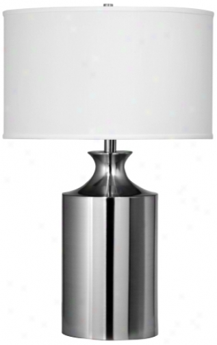 Brushed Steel Milk Can Retro Table Lamp (j2275)