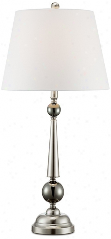Brushed Harden Taper Column Table Lamp (n5470)