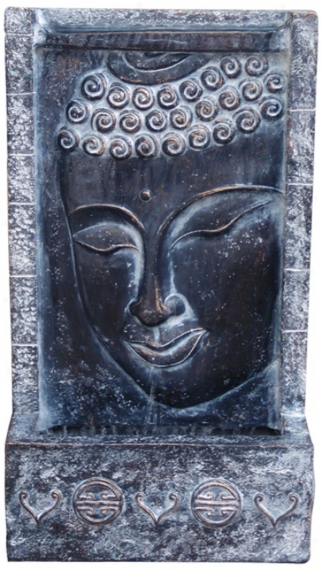 Bhddha Face Lighted Wall Fountain (j3498)