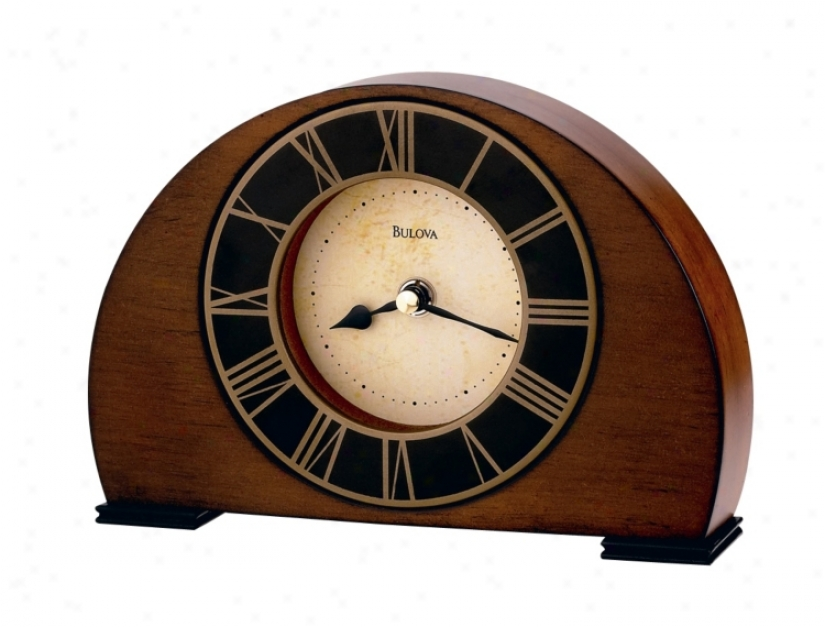 Bulova Tremont 8 1/4&quoy; Wide Tabletop Clock (73611)