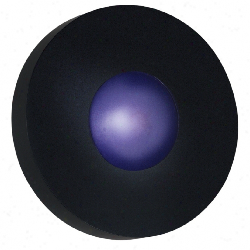 "Burst Black Round 9 1/2"" Wide Exterior Wall Or Ceiling Light (96679)"