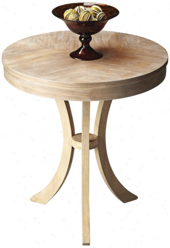 Butler Loft Driftwood Round Side Table (u7826)