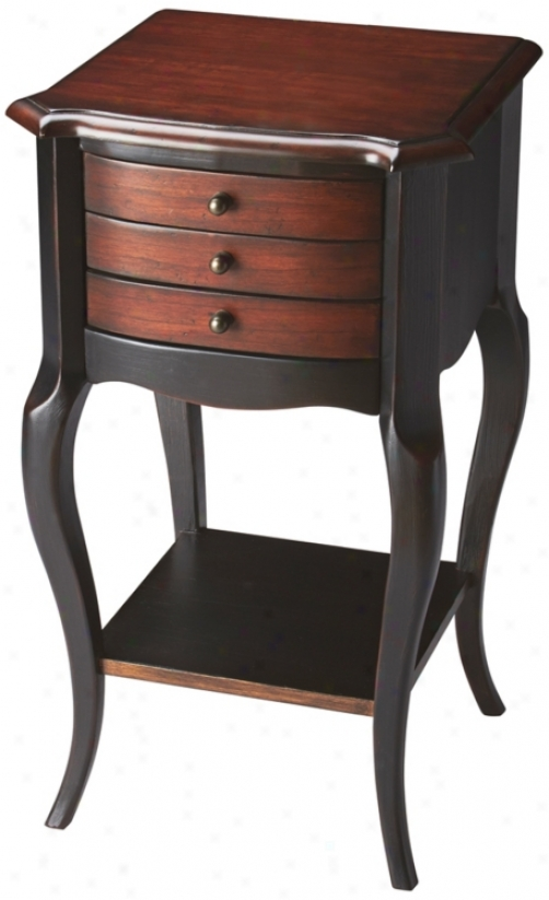 Cafe Noir 3-drawer Wood Accent Table (u4781)