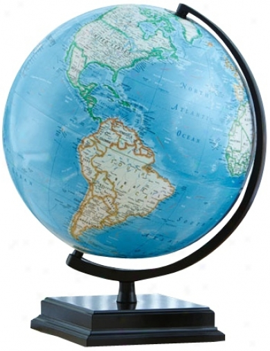 "Cambria 16"" High Blue Ocean World Globe (w2894)"