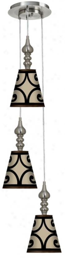 Cambria Scroll 3-in -1 Metal Cone Giclee Pendant (m2299-p2114)