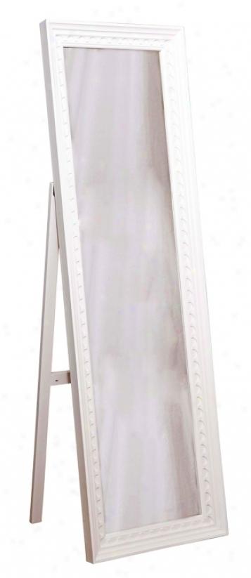"Cambridge White Cheval 65"" High Mirror (h1138)"