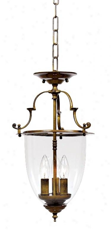"""Camden Collection 18 1/4"""" High Bell Jar Lantern Chandelier (h2037)"""