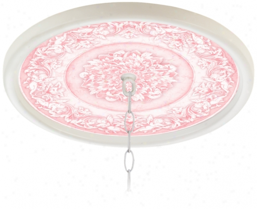 "Camelot Manor Rose 16"" Wide White 1"" Opening Medallioh (g8213-g7717)"