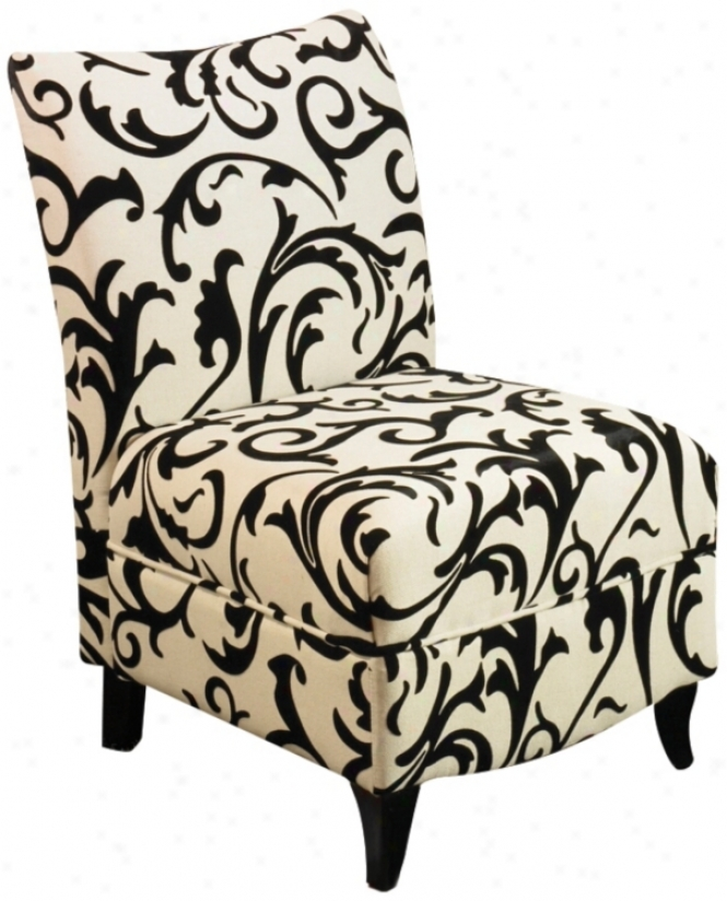Camelot Pattern Armless Club Chair (j4463)