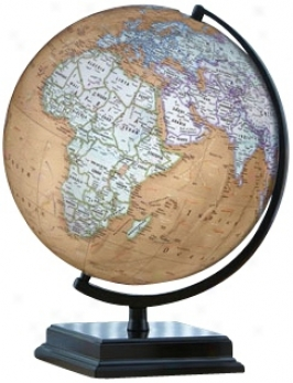 "Cameron 16"" High Brown Ocean World Globe (w2897)"