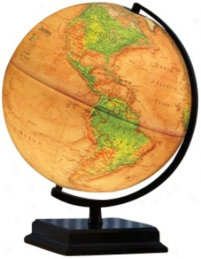 "Cameron Brown Immense expanse 16"" High Illuminated World Globe (w2895)"