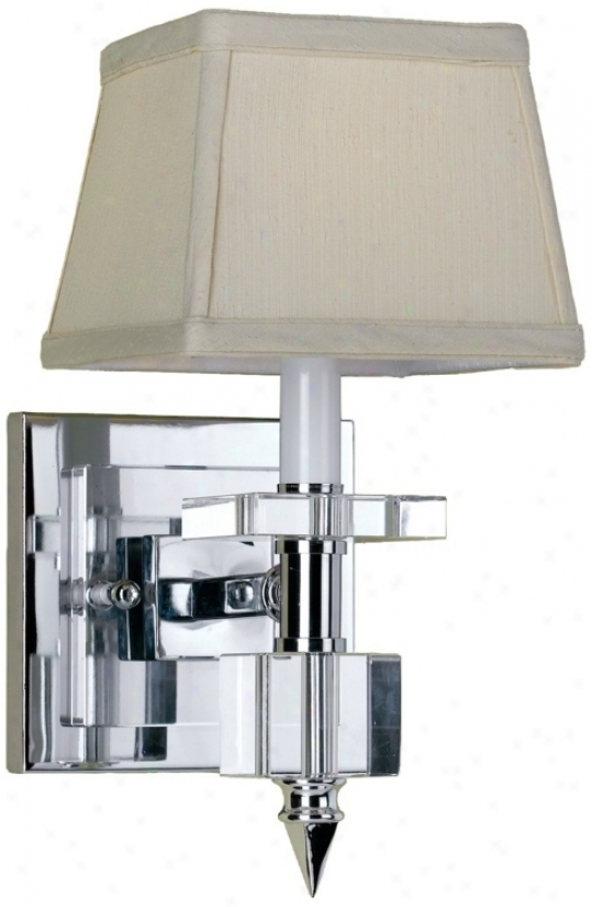 Candice Olson Cluny Chrome Wall Sconce With Cream Shade (81649)