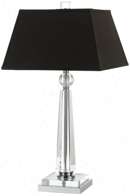 Candice Olson Cluny With Black Shade Table Lamp (v9748)