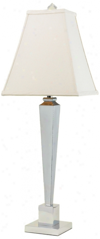Candice Olson Margo Chrome Buffet Lamp With Cream Shade (f9870)