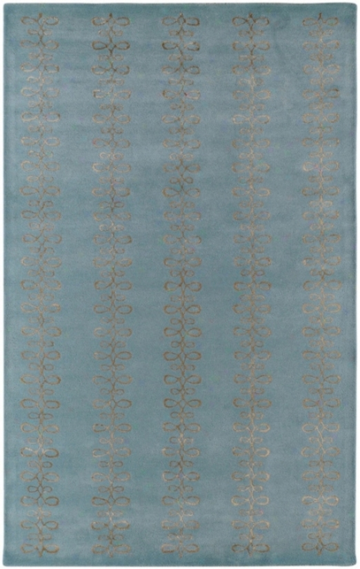 Candice Olson Modern Classic Blue And Silver Area Rug (n1409)