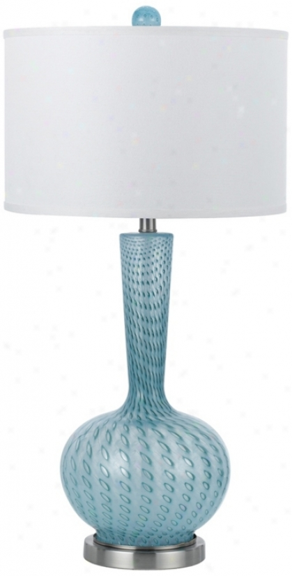 Candice Olson Oasid Aqua Hand-blownG lass Table Lamp (v9760)
