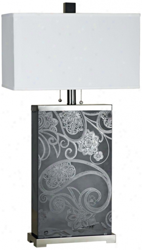 "Candice Olson Paisley 35"" High Table Lamp (j5039)"