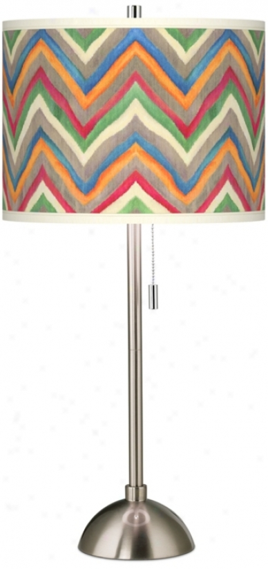 Canyon Waves Giclee Contemporary Table Lamp (60757-w4738)