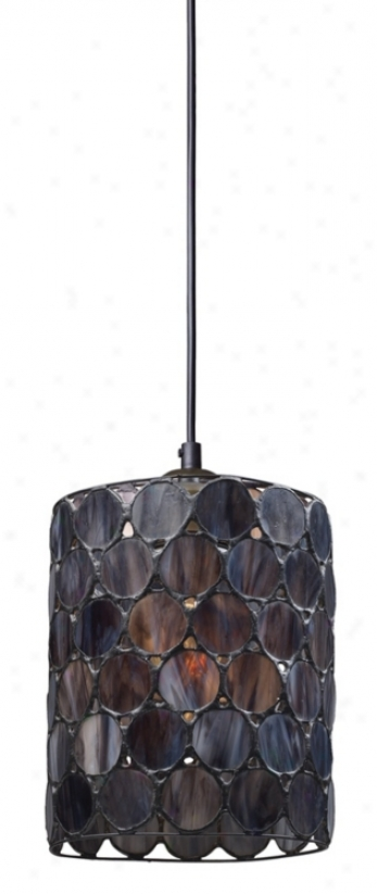 "Capiza Collection7 "" Wide Pendant Chandelier (m5352)"