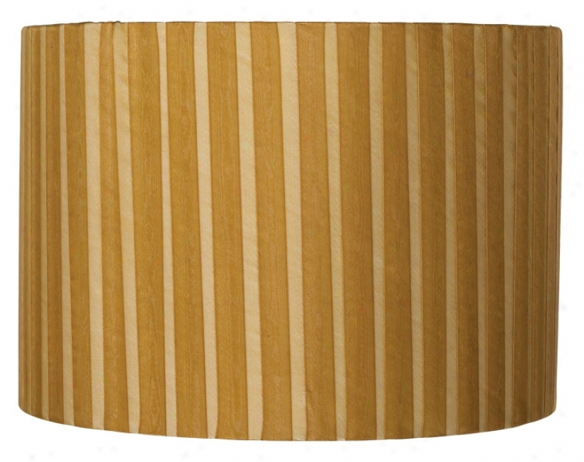 Caramel Ribbon Wrapped Drum Shade 12x12x8.5 (spider) (93276-k2108)