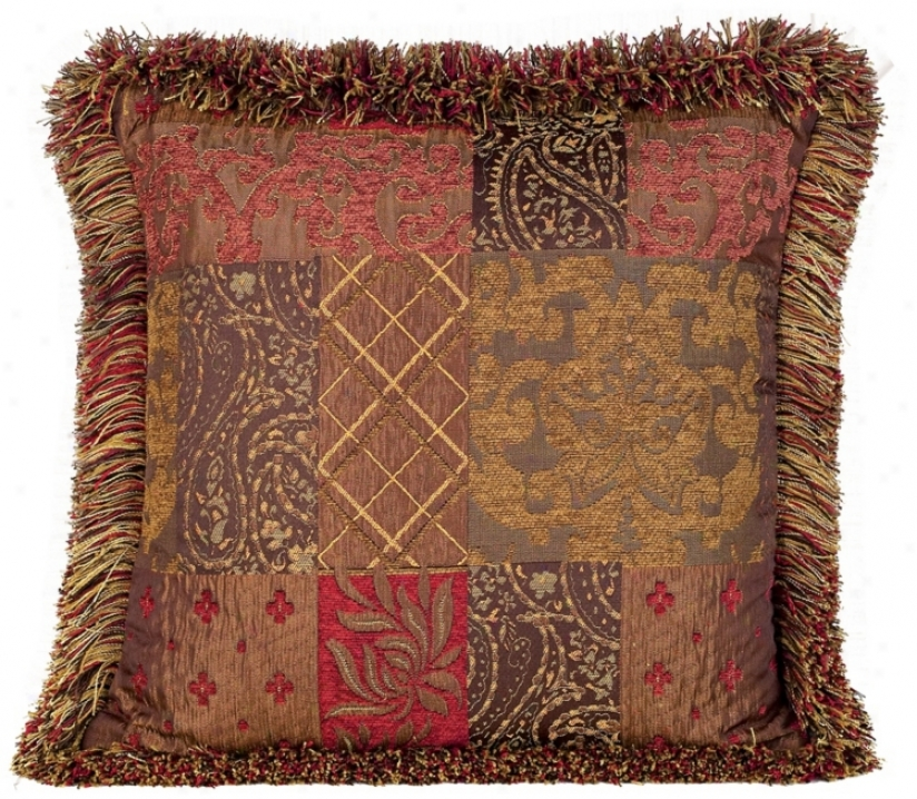 Caravan Collection Brush Fringe Accent Pillow (08878)