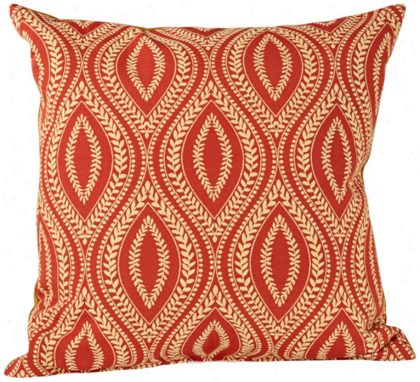 "Carnio Palrika Down 18"" Square Throw Pillow (u1392)"