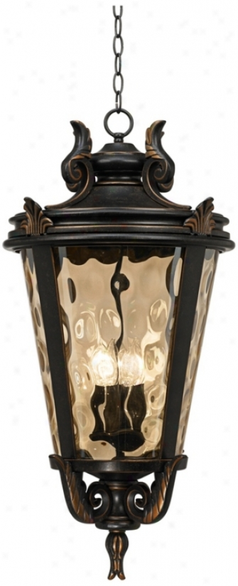 "Casa Marseille™ Bronze 30"" High Outdoor Hanging Light (u4082)"