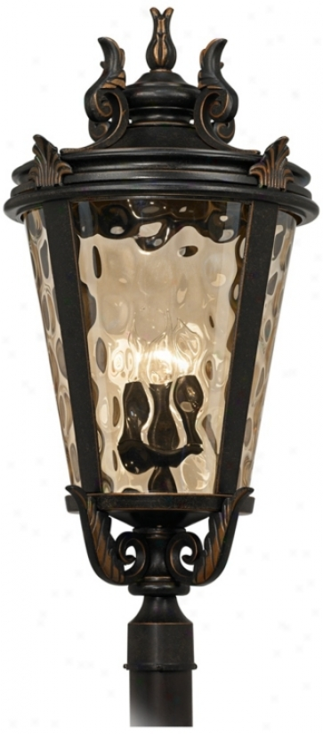"""Casa Marqeille™ Bronze 33 1/2"""" High Outdoor Post Light (u4073)"""