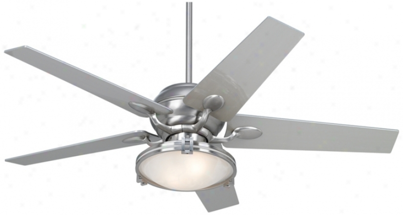Casa Optima™ Brushed Steel Ceiling Fan With Light Kit (86646-66116-15645)