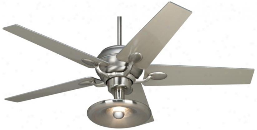 Casa Optima™ Brushed Steel Illuminate Kit Ceiling Fan (86646-66116-r1857)