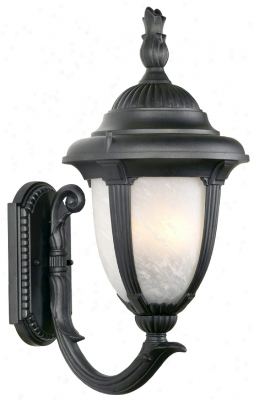 "Casa Sorrento™ Black  14  3/4"" Hogh Outdoor Light (61376)"