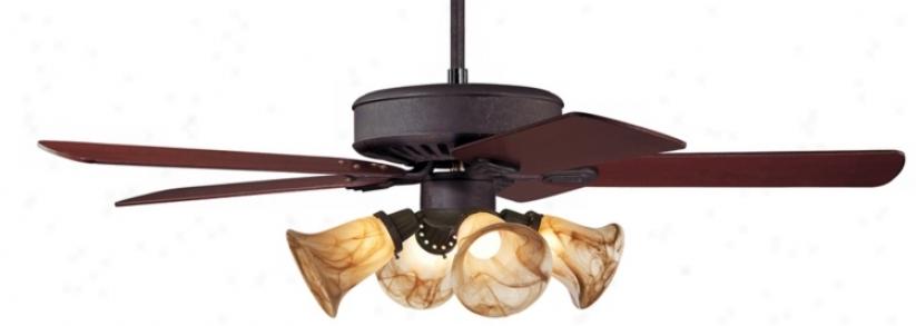 Casa Vieja® Windstar Ii™ Rust Finish Ceiling Fan (34047-00292-87208-56452)