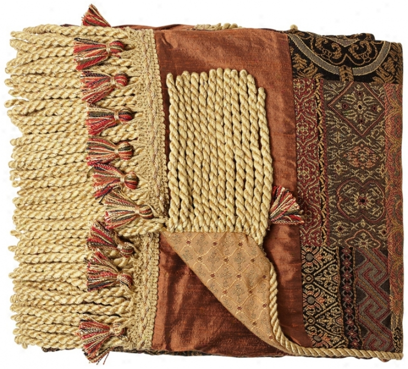 Casbah Tappestry Fringed Throw (69277)